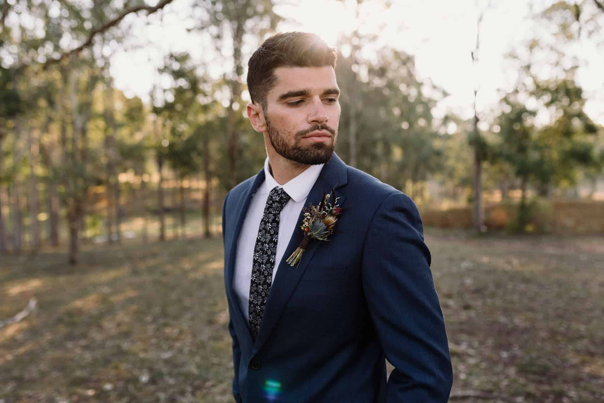 Groom portrait session Estate Tuscany Captured by James White Hunter Valley Wedding Photographer