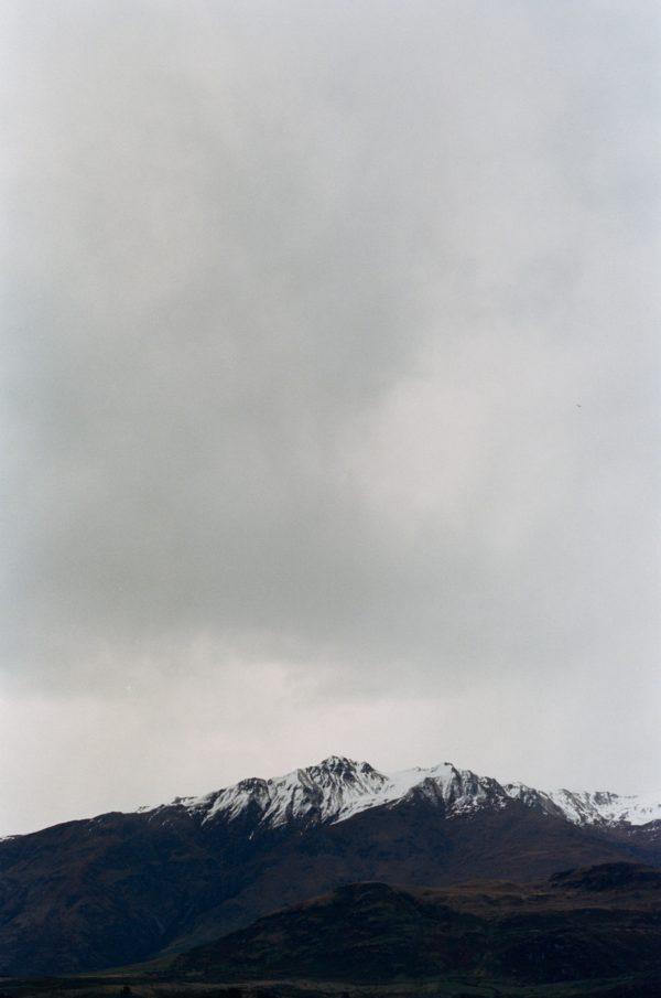 Stunning Kodak Portra 400 35mm film shot of New Zealand Mountains during a storm