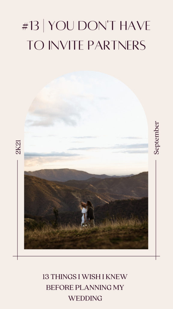 You dont have to invite partners. Bride and groom standing in the mountains in barrington, as golden sun fills the valley at sunset behind them